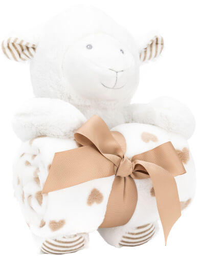 Plüschtier Set Schaf mit Decke