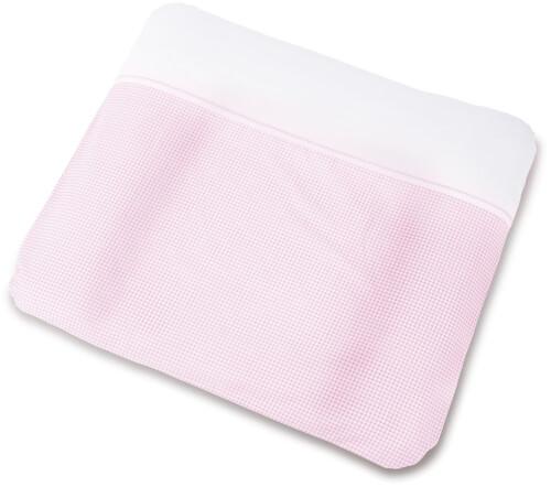 Bezug für Wickelauflagen Vichy-Karo, rosa