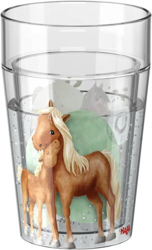 HABA Glitzerbecher Pferde