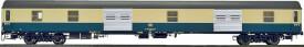 H0 Gepäckwagen Bauart Dms 905 der DB, Epoche 4 Ausführung oceanblau/beige mit unlackierten Nirosta-Rolltoren