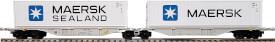 H0 Gelenk-Containertragwagen Bauart Sggmrss 90 der AAE-Cargo, Epoche 5/6,