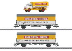 H0 Bierkühlwagen-Set Holsten