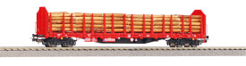 Stammholztrpwg. Roos-t642 DB AG V mit Holzladung DC