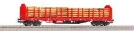 Stammholztrpwg. Roos-t642 DB AG V mit Holzladung AC