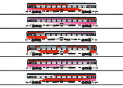 Trix T15389 N Schnellzugwagen-Set ICRm