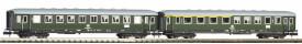 N 2er Set Schürzeneilzugwagen 1./2. Klasse und 2. Klasse DB IV
