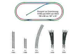 Trix T14312 N Gleis-Ergänzungs-Set H2