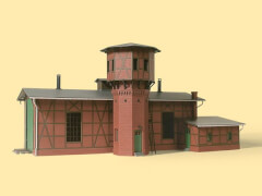 H0 Lokschuppen mit Wasserturm