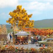 Herbstwein mit Verkaufsbude