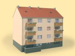 H0 Mehrfamilienhaus