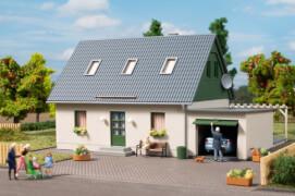 H0 Einfamilienhaus mit Garage