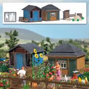 H0 Gartenlauben-Set 2