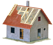 H0 Kleines Haus im Bau