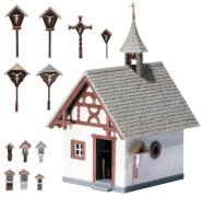 H0 Kapelle mit Wegkreuzen
