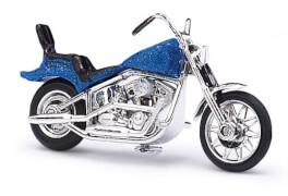 US Motorrad blau-metallic