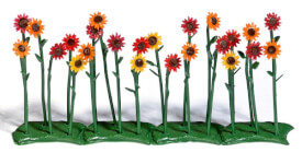 H0 Rote Sonnenblumen
