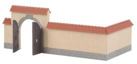 H0 Mauer mit Tor