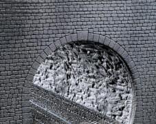 H0 Dekorplatte Profi Tunnelröhre, Felsstruktur