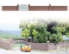 H0- Steinmauer/Tor