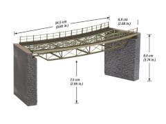 H0 Brückenfahrbahn gebogen R2