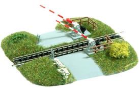 H0 Motiv-Set Bahnübergang