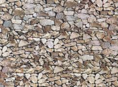 H0 Mauerplatte, Naturstein, Monzonit