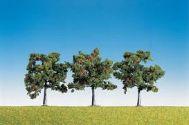 H0, TT, N 3 Apfelbäume