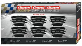 Carrera EVOLUTION - 6er-Pack Kurven 1/30°