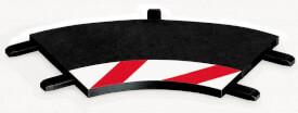 CARRERA DIGITAL 124 - Innenrandstreifen für Kurve 1/60° (3), Endstücke (2)