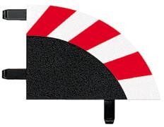 CARRERA DIGITAL 124 - Außenrandstreifen für Kurve 1/30° (6), Endstücke (2)