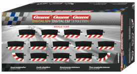 CARRERA DIGITAL 124 - Innenrandstreifen für Kurve 4/15° (12), Endstücke (2)