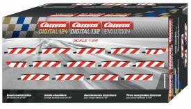 CARRERA DIGITAL 124 - Innenrandstreifen für Steilkurve 4/15° (12), Endstücke (2)