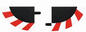 CARRERA DIGITAL 124 - Endstücke für Kurvenaußenrand (4), breit