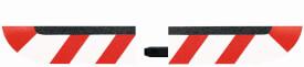 CARRERA DIGITAL 124 - Endstücke für Steilkurveninnenrand (4), schmal