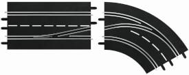 CARRERA DIGITAL 132 - Spurwechselkurve rechts, innen nach außen