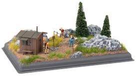 H0, TT, N, Z Mini-Diorama Gebirge