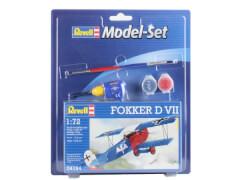 REVELL 64194 Modellbausatz Model Set Fokker D VII mit Basisfarben 1:72, ab 10 Jahre