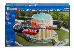 REVELL 04906 Modellbausatz BO 105 35th Anniversary of Roth Fly-Out Version 1:32, ab 10 Jahre