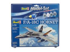 REVELL 64894 Modellbausatz F/A-18C HORNET mit Basisfarben 1:72, ab 11 Jahre