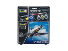 REVELL 63953 Modellnachbildung Spitfire Mk.Iia mit Basisfarben 1:72, ab 10 Jahre