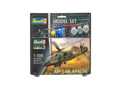 REVELL 04985 AH-64A Apache Modellbausatz 1:100, ab 10 Jahre
