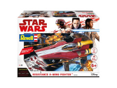 REVELL 06759 Star Wars Modellbausatz Build & Play A-Wing Fighter rot 1:44, ab 6 Jahre