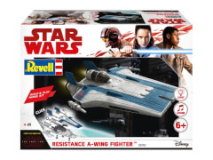 REVELL 06762 Star Wars Modellbausatz Build & Play A-Wing Fighter blau 1:44, ab 6 Jahre