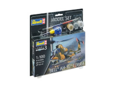 REVELL 64954 Modellbausatz Bell AH-1G Cobra mit Basisfarben 1:100, ab 10 Jahre