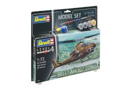 REVELL 64956 Modellbausatz Bell AH-1G Cobra mit Basisfarben 1:72, ab 12 Jahre