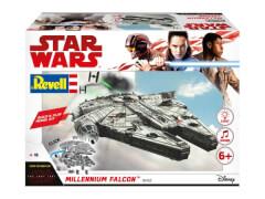 REVELL 06765 Star Wars Modellbausatz Build & Play Millennium Falke 1:164, ab 6 Jahre