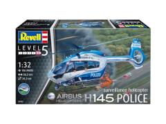 Revell 04980 Modellbausatz H145 Polizei Überwachungshubschrauber 1:32, ab 14 Jahre
