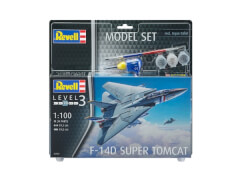 REVELL 63950 Modellbausatz F-14D Super Tomcat mit Basisfarben 1:100, ab 10 Jahre