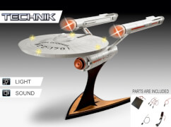 REVELL USS Enterprise NCC-1701- Tech