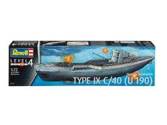 REVELL 05133 Modellbausatz Deutsches U-Boot TYPE IX C/40 (U190) 1:72, ab 12 Jahre